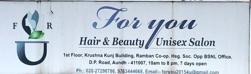 For You Hair & Beauty Unisex Salon Unisex Parlour in Aundh Pune