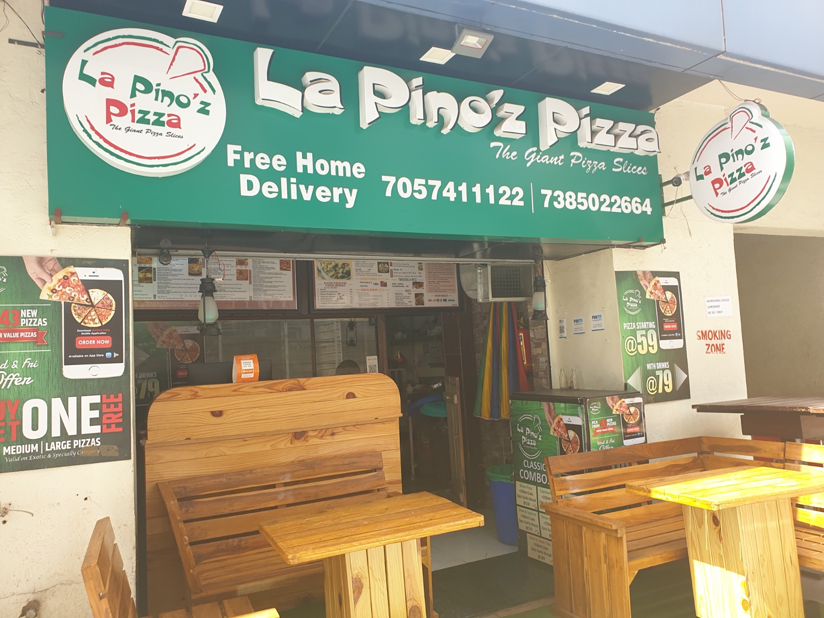 La pinoz Cafe in Magarpatta City Pune